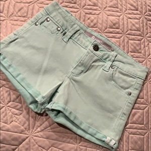 Tractr  🍭 Mint Green Jean Shorts Size 10-12